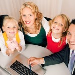 Consultant providing personal insurance quotes to family